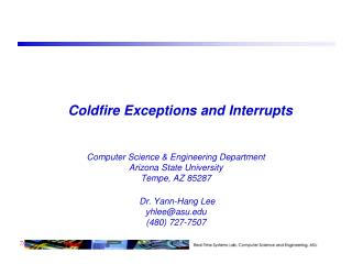 Coldfire Exceptions and Interrupts