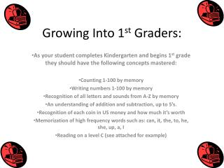 Growing Into 1 st  Graders: