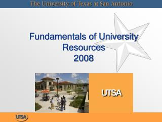 Fundamentals of University Resources 2008