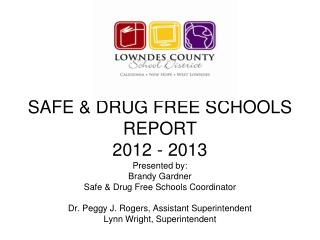 Safe & Drug Free Schools Program