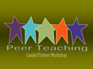 Leader/Trainer Workshop