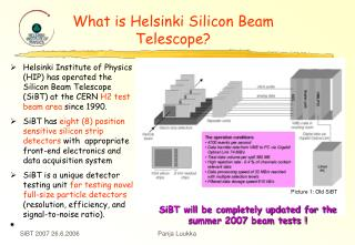 What is Helsinki Silicon Beam Telescope?