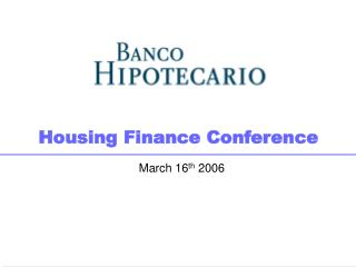 Housing Finance Conference