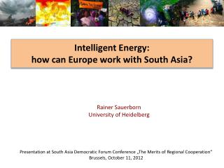 Intelligent Energy:  how can Europe work with South Asia?