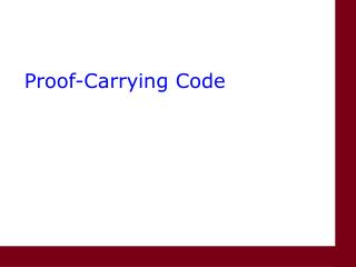 Proof-Carrying Code
