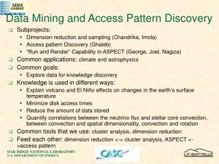 Data Mining and Access Pattern Discovery