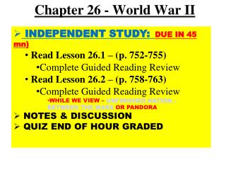 Chapter 26 - World War II