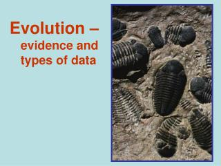 Evolution –  evidence and types of data