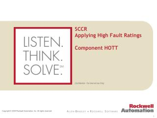 SCCR Applying High Fault Ratings Component HOTT