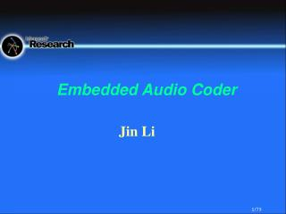 Embedded Audio Coder