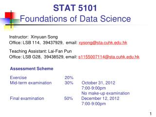 STAT 5101 Foundations of Data Science