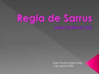 Regla de Sarrus