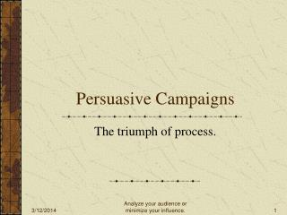 Persuasive Campaigns