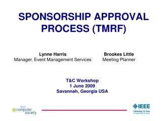 SPONSORSHIP APPROVAL PROCESS (TMRF)