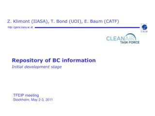 Repository of BC information Initial development stage