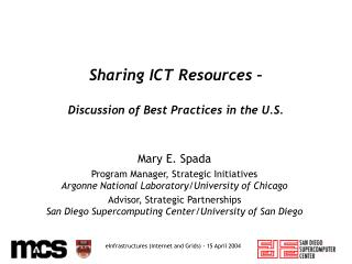 Sharing ICT Resources –  Discussion of Best Practices in the U.S.