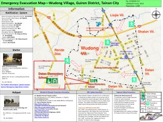 Emergency Evacuation Map—Wudong Village, Guiren District, Tainan City