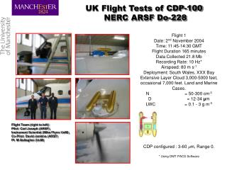 UK Flight Tests of CDP-100  NERC ARSF Do-228