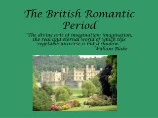 The British Romantic Period