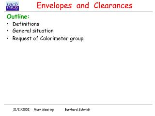 Envelopes  and  Clearances