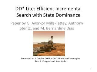 DD* Lite: Efficient Incremental Search with State Dominance