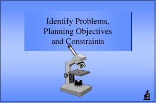 Identify Problems,              Planning Objectives                    and Constraints