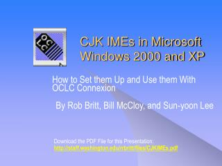 CJK IMEs in Microsoft Windows 2000 and XP