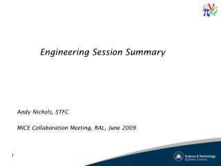 Engineering Session Summary