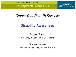 Create Your Path To Success Disability Awareness Sharon Fallis Advocacy & Leadership Consultant