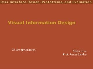 Visual Information Design