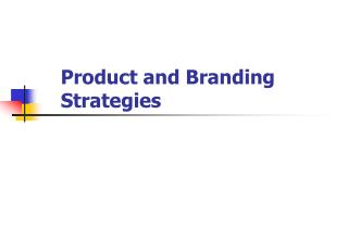 Product and Branding Strategies