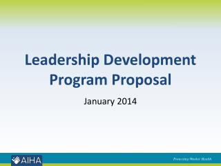 Leadership Development Program Proposal