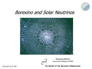 Borexino and Solar Neutrinos