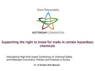 Supporting the right to know for trade in certain hazardous chemicals