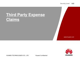 Third Party Expense Claims