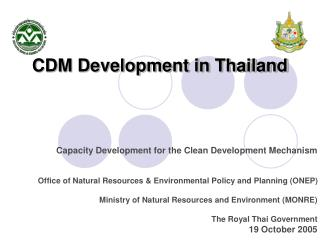CDM Development in Thailand