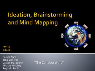Ideation, Brainstorming  and Mind Mapping