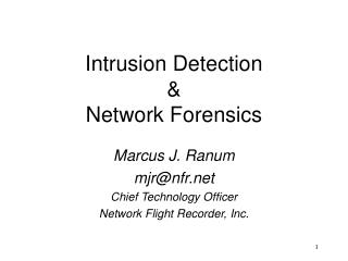 Intrusion Detection & Network Forensics