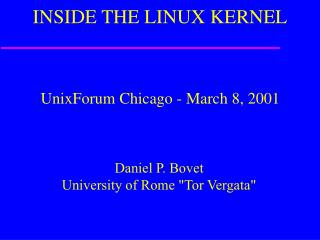 INSIDE THE LINUX KERNEL