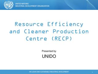 Resource Efficiency and Cleaner Production Centre (RECP)