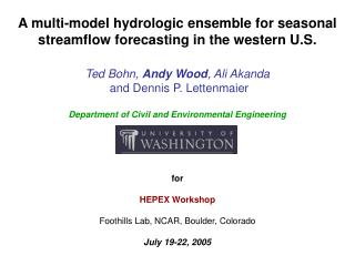 A multi-model hydrologic ensemble for seasonal streamflow forecasting in the western U.S.