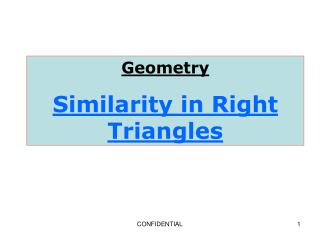 Geometry Similarity in Right Triangles