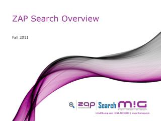 ZAP Search Overview