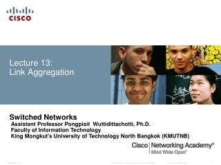 Lecture 13:  Link Aggregation