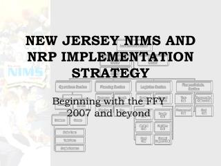 NEW JERSEY NIMS AND NRP IMPLEMENTATION STRATEGY