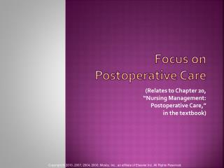 Focus on Postoperative Care