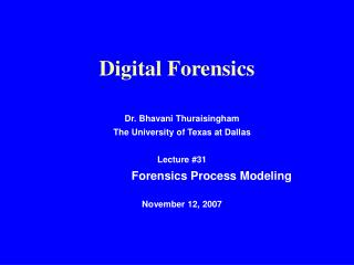 Digital Forensics