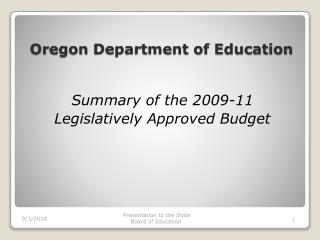Oregon  Department of Education