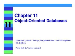 Chapter 11 Object-Oriented Databases
