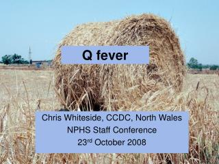 Chris Whiteside, CCDC, North Wales   NPHS Staff Conference   23 rd  October 2008